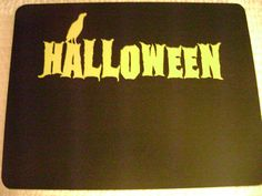 Finished 12x9 Halloween sign with yellow vinyl by VinylSkyGraphics, $12.50