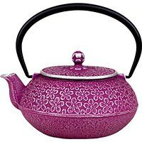 Japanese Cast Iron Teapot 20 oz Nambu-tekki - Sakura Cherry Blossoms Made in Japan. All handmade. Cast iron teapot with the painting on the surface. With stainless tea strainer. Excellent in the heat retention property. Hard to rust with the enamel coating on inside. Other Colours. ONLY 3 LEFT IN STOCK.