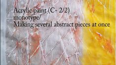 108_Acrylic paint(#0SHC2)/ Abstract art that anyone can easily create /monotype - YouTube Printmaking, Abstract Art, Create, Youtube, Mixed Media, Collage, Painting, Collages, Painting Art