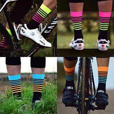 Women Men Riding Cycling Calf Socks Sports Socks Casual Breathable Casual Soft