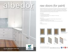 Doors for paint Mini Brochure. Painted Doors, Paint Finishes, Kitchen Styling, Brochures, Kitchen Design, Garage Doors, Mini, Outdoor Decor, Painting