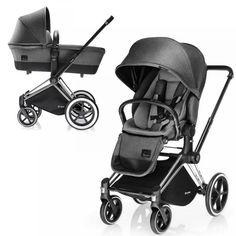 Детская коляска 2 в 1 Cybex Priam (шасси All Terrain Matt Black) Manhattan Grey