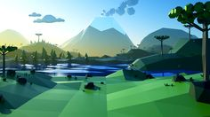 Low Poly Landscapes on Behance
