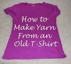 DIY, how to make yarn from an old t-shirt. Step by step tutorial. #DIY #Tshirt #yarn
