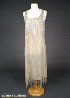 Augusta Auctions: beaded halston sheath, 1970s  #vintage #fashion