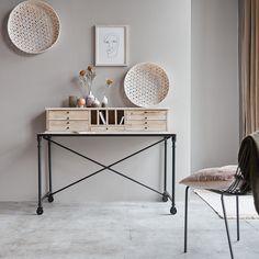 Wood And Metal Desk, Metal Desks, Wood Desk, Wood Office Desk, Office Table, Home Bedroom, Bedroom Furniture, Bedroom Decor, Teak