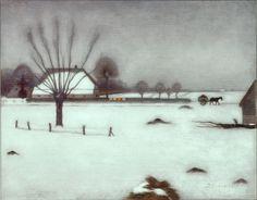 Jan Mankes, Winter in Eerbeek, 1917 Weimar: So cold outside Mary Cassatt, Winter Painting, Winter Art, Matisse, Monet, Landscape Art, Landscape Paintings, Classic Paintings, Dutch Painters