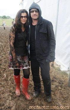 Bono and Ali Hewson, Glastonbury 2011 Super cool picture of Bono and Ali.