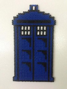 doctor who tardis perler art magnet by adventuresingeekery on Etsy, $12.00