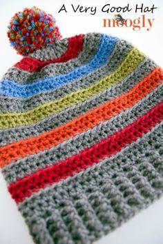 A Very Good Hat: Free #crochet pattern in 6 sizes on Moogly!