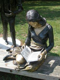 seward johnson sculptures | Seward Johnson 'The Reader' 1980, Ursinus Sculpture Park, Collegeville ...