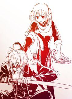 Kagura & Sougo | Gintama | Artist: 双葉 [pixiv]