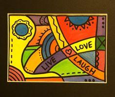Watercolor - OsborneOriginals #funky #livelaughlove