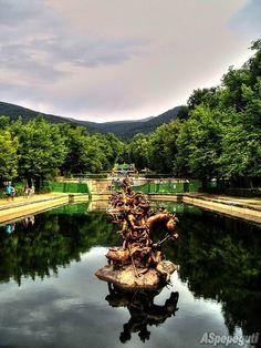 La Granja's royal gardens. Segovia (Spain).