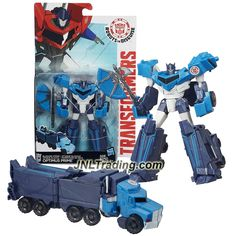 "Hasbro Year 2015 Transformers Robots in Disguise Warrior Class 5-1/2"" Tall Figure - Blizzard Strike OPTIMUS PRIME with Hatchet (Vehicle: Rig Truck)"