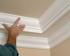 painted tray ceiling with crown molding | tray ceiling ...