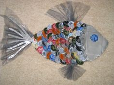 making fish with recycled materials - Google Search