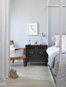 beautiful pale blue  #blue #bedroom