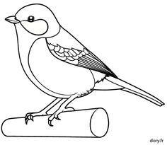 Dessin à colorier, une mésange charbonnière Art Drawings For Kids, Bird Drawings, Easy Drawings, Bird Embroidery, Hand Embroidery Designs, Bird Template, Bunny Templates, Vogel Illustration, Bird Coloring Pages