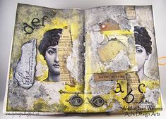 Decou Page Journal Spread. Tutorial on their website.  http://www.decoart.com/blog/project/230/decoupage_journal_spread
