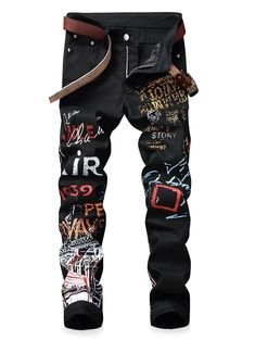 Shop a great selection of Baylvn Men's Casual Straight Slim Fit Printed Jeans Skinny Pants. Find new offer and Similar products for Baylvn Men's Casual Straight Slim Fit Printed Jeans Skinny Pants. Style Casual, Men Casual, Stylish Men, Fashion Pants, Mens Fashion, Cheap Fashion, Street Fashion, High Fashion, Style Brut