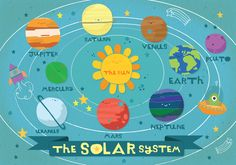 Cute Solar System Illustration