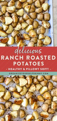 Delicious Ranch Roasted Potatoes | Healthy Dinner Recipes - Ranch roasted potatoes are an easy side dish that goes with everything. They are simple to make and will quickly become a family favorite. Organize Yourself Skinny | Healthy Recipes | Healthy Family Meals | Healthy Vegetable Recipes | Roasted Potatoes Recipe | Meal Prep | Meal Planning Healthy Freezer Meals, Healthy Vegetable Recipes, Easy Healthy Dinners, Easy Healthy Recipes, Healthy Family Meals, Healthy Meal Prep, Skinny Recipes, Diet Recipes, Clean Dinner Recipes