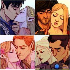 Rhysand/Feyre , Cassian/Nesta , Lucien/Elain , Azriel/Morrigan