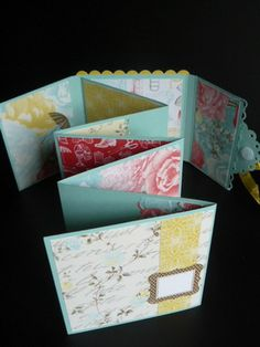 The Craft Spa: Scallop Square #14 - Attic Boutique Central Concertina Mini Book