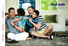 """Nerve: """"JCPenney launches Father's Day ad with two dads, presumably to spite One Million Moms."""" After Ellen DeGeneres was chosen to be spokesperson for JCPenney, there was some controversy, so the inclusive company decided to include a family with two dads in their Father's Day ad. A positive piece of LGBT representation in print advertising!"""