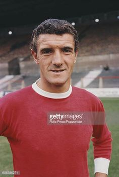 English footballer and centreback with Manchester United Football Club Bill Foulkes posed on the pitch at United's Old Trafford stadium in Manchester. Man Utd Squad, Man Utd Fc, Manchester United Players, Manchester United Football, World Football, Football Fans, Man Utd Crest, Football Pictures, Man United
