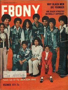 Family life of The Jackson Five on the cover of Ebony magazine. Jet Magazine, Black Magazine, Life Magazine, Media Magazine, Michael Jackson, Janet Jackson, The Jackson Five, Jackson Family, My Black Is Beautiful