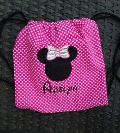 Disney Drawstring Backpack with monogrammed by twigsandstitches, $17.00