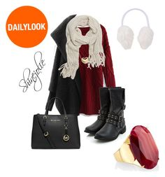 A winter's day by shinejolie on Polyvore featuring polyvore, moda, style, Chicnova Fashion, Chicwish, MICHAEL Michael Kors, Monsoon and With Love From CA
