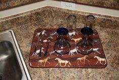 Horse Themed Dish Drying Mat