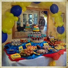 Graduation Dessert Station UCLA theme & Color