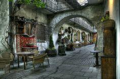 Stajnia cafe, Kazimierz, Krakow, Poland, via Flickr.