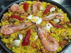 Arroz de marisco, con langostinos, almejas, calamares y mejillones | Restaurante tapería tortillería Papa´s en Vigo