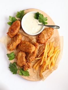 These Vegan Fish Sticks are made with shredded heart of palm dipped in a rich beer batter and served with vegan tartar sauce.