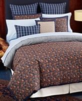 Tommy Hilfiger Bedding, Shelburne Paisley Comforter and Duvet Cover Sets