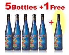 + 1 free set of five blue flower bottle label (Internet only)