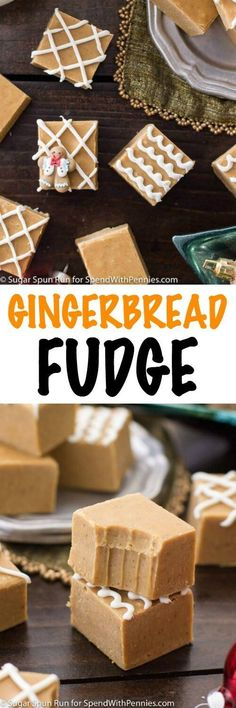 A seasonally spiced gingerbread fudge that takes just mi. A seasonally spiced gingerbread fudge that takes just minutes to make and doubles as a festive, edible Christmas gift. Edible Christmas Gifts, Christmas Fudge, Christmas Sweets, Christmas Cooking, Xmas, Christmas Goodies, Christmas Recipes, Christmas Pudding, Edible Gifts