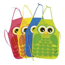 Free+Printable+Apron+Patterns | OWL print APRONS Childrens Kids Fabric CRAFT assorted Bold colors ...
