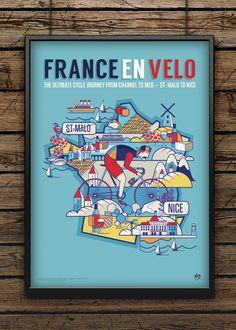 France En Velo by Neil Stevens Print Shop
