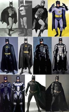 Evolution of the Bat Suit, the best 1966 !!!! Awesome!!