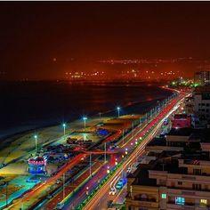 Good night from Vishakhpatnam, Andhra Pradesh.  Picture Credits: @dipabrata.