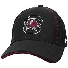 aeddc062737 South Carolina Gamecocks Under Armour Blitzing Accent Black Fitted Hat -  2018 Sideline Collection