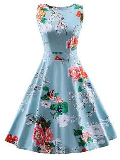 GET $50 NOW | Join RoseGal: Get YOUR $50 NOW!http://www.rosegal.com/vintage-dresses/vintage-tie-back-floral-dress-606726.html?seid=7077191rg606726