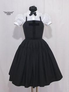 Shiroi Tsubasa Black Cross  Fifth Dress JSK in Black