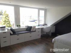 living room ideas – New Ideas Study Room Decor, Attic Bedroom Designs, Home, Loft Spaces, Loft Conversion Bedroom, Garage Bedroom, Small Bedroom Inspiration, Home Decor, New Room